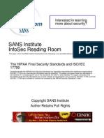 Hipaa Final Security Standards Iso Iec 17799 1193[1]