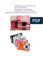 We Sell a Variety of Digital Cameras in Color