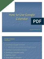 Jing Valdez How to Use Google Calendar