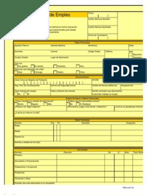 Solicitud De Empleo Print A Form Euro Estado Forma De