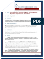 FEMA - DISASTER ASSISTANCE POLICY 1004