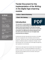 E-learning Tender Document