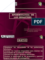 Epidemiologia de Los Desastres