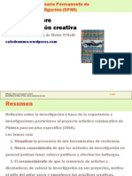 Reflexión sobre la investigación creativa