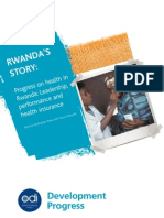 ODI Rwanda Health Progress Report