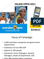 Australian Open / Optus Campaign Proposal