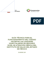 Guia Tecnica Para El Codigo Mater en Unidades Hospital Arias