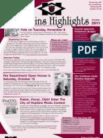 Hopkins Highlights - October 2011