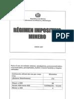 Regimen Impositivo Minero