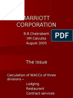 marriot corporation cost of capital Marriott corporation: the cost of capital (abridged) executive summary: the case &quotmarriott corporation: the cost of capital (abridged)&quot focuses on an ideal opportunity to review the capital asset pricing model and the weighted average cost of capital through calculation of the cost of capital for marriott as a whole.