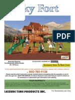 Skyfort Cedar Play Set With Slide 1180_man