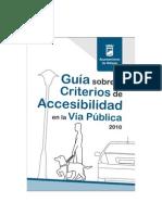 Guía sobre Criterios de Accesibilidad en la Vía Pública