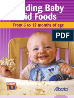 Feeeding Baby Solid Foods From 6 to 12 Months of Age - 2008