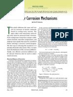 Water Corrision Mechanisms