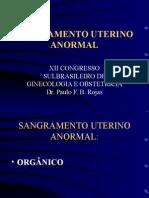 SANGRAMENTO UTERINO ANORMAL