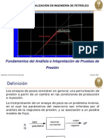 Fundamentos del Análisis e Interpretación de Pruebas de Presión