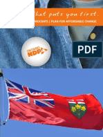 NDP Platform - Plan for Affordable Change