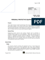 Tracy Personal Protective Equipment Plan