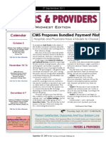 Payers & Providers Midwest Edition – Issue of September 27, 2011