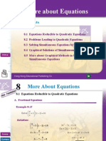 Chapter 8 More About Equations