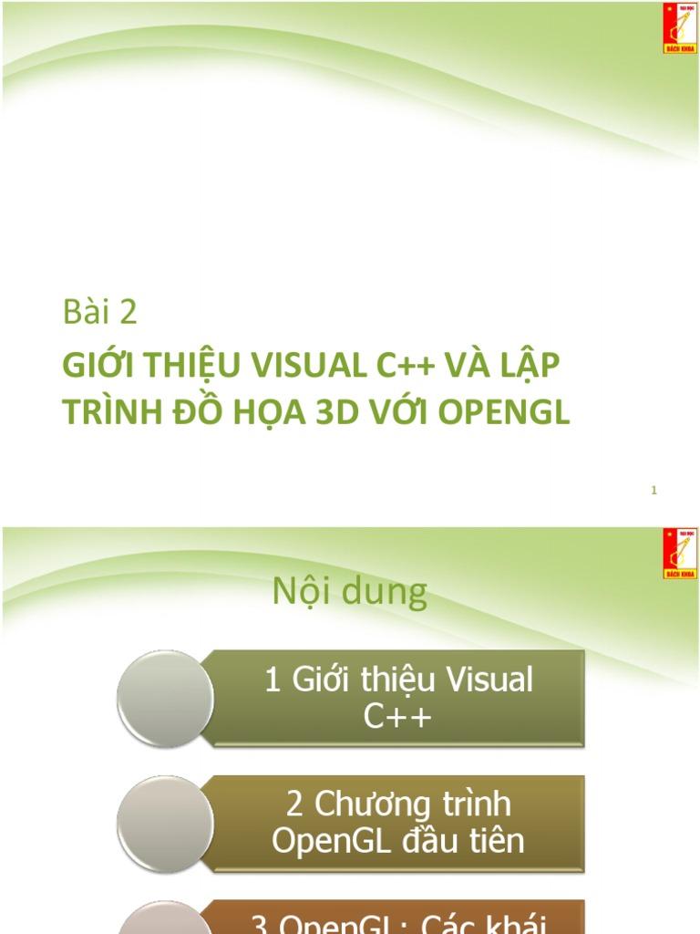 Bai 2 Visual C++ Va Lap Trinh OpenGL