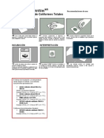 Placa 3M Para Coliformes Totales Instrucciones de Uso
