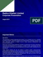 Radico Corporate Presentation August 2011