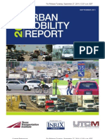 2011 Texas Transportation Institute Urban Mobility Report