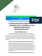 La Educacion Sec Und Aria