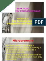 l1 - Technopreneur Perspective & Motivation