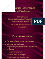 Disclosure of Corporate Garvenance