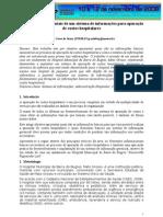 SIMPEP 2008 - Elementos fundamentais de um sistema de informações para apuração de custos hospitalares