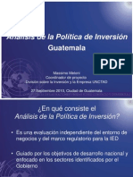 Politica Inversion Guatemala