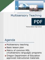 Multi Sensory Teaching 04-08-08