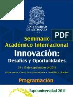 Programación Seminario Académico Internacional. Innovación