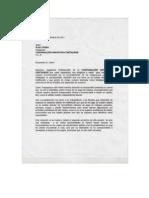 Carta de Centauros a Alex Otero