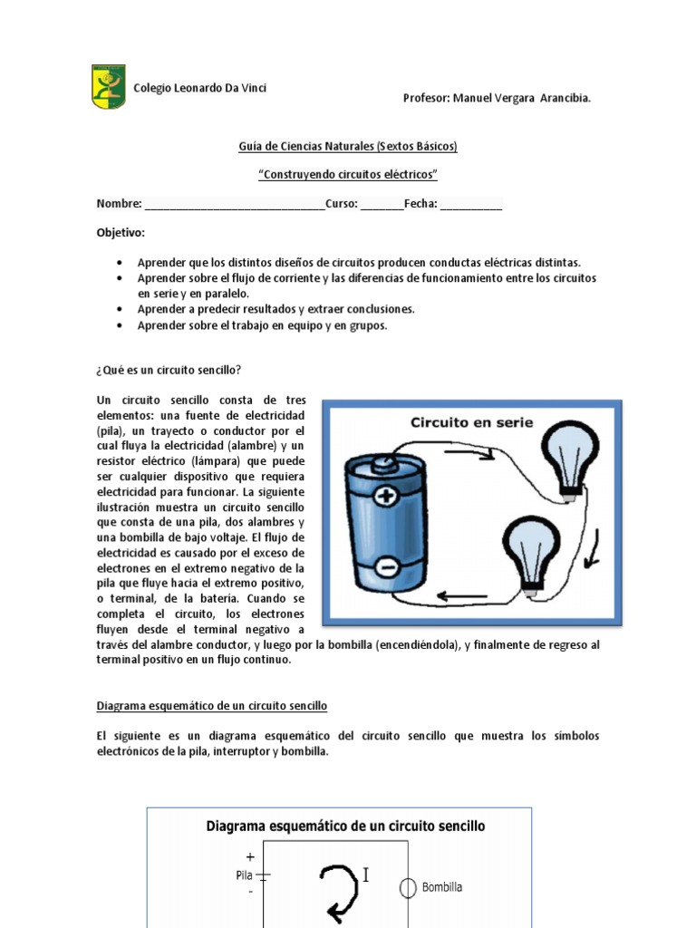 Circuito Sencillo : Circuito electrico sexto.