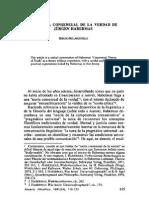 Sergio Belardinelli - La Teoría Consensual de La Verdad de Jürgen Habermas