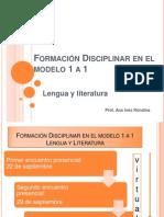 Formación Disciplinar en el modelo 1 a 1