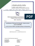 Contribution à l'élevage de la Daurade -Sparus aurata- en eau réchauffée - Cas de la ferme ONDPA Cap Djinet