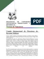 Requisitos de Uniform Id Ad Para Manuscritos Present a Dos a Revistas BiomÉdicas