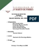 Salud Mental Del Medico
