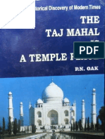 The Taj Mahal Is A Temple Place - P N Oak