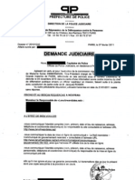 Demande Judiciaire- Plainte contre LNR 7FEV2011