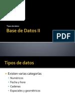 Uninter - BD - Sesión 13 - tipos de datos