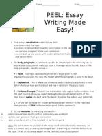 PEEL Easy Essay Writing