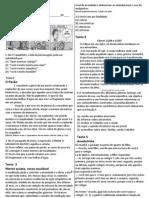 Avaliação de língua portuguesa 8 ano AGOSTO