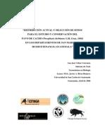 Distribucion Pavo de cacho Oreophasis derbianus