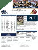 Week 4 - Rams vs. Redskins