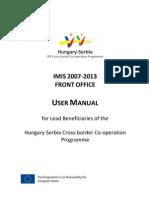 Imis Fo User Manual Husrb